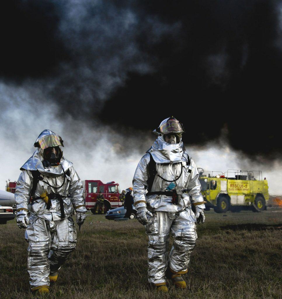 Illustration pompiers après un accident