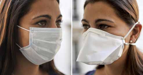 Deux masques différents pour se protéger du coronavirus
